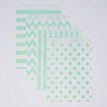 48 Polka Dot Chevron Stripe Mint and White Food Candy Treat Party Favor ... - $9.95