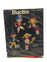 Bucilla Jeweled Holiday Ornaments Good Sports Football Soccer Tennis Bas... - $14.84
