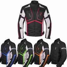Motorcycle Jacket For Men Cordura Motorbike Racing Biker Riding Breathab... - $103.95