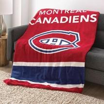 Sunbeam NHL Teams Microplush Heated Throw/Blanket - Montreal Canadiens - $127.89 CAD