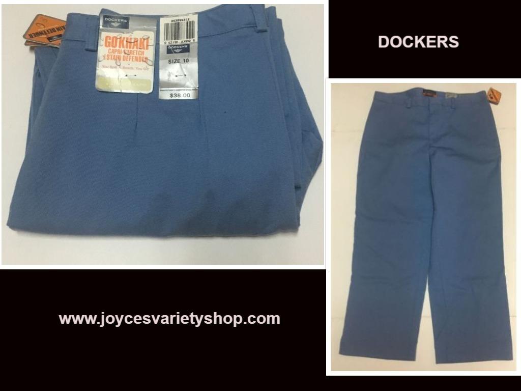 Dockers capris web blue collage