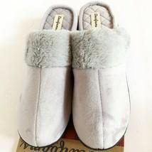 NEW Dearfoams Womens Memory Foam Hood Back Clog Microsuede Slippers XL 11-12 - $14.16