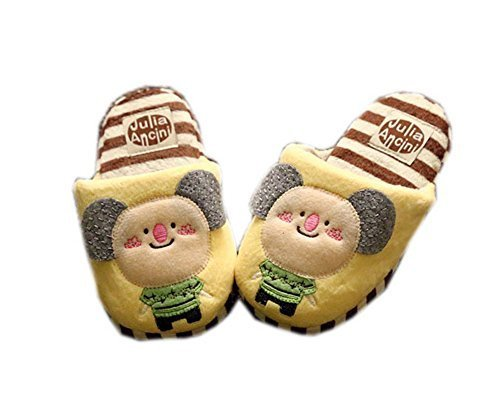 Warm Winter Slippers for Boys Yellow Bear 3-6 Years Old