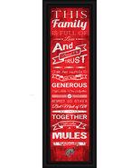 """Muhlenberg College """"Mules""""- 24 x 8 Family Cheer Framed Print - $39.95"""