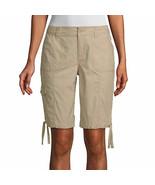 "St. John's Bay Women's Mid Rise Bermuda Shorts Size 6 Biscotti 11"" Inseam  - $26.72"