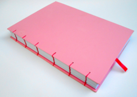 Pink Travel sketchbook journal 400 pgs- 100% recycled pages-80gsm.- pers... - $28.00+