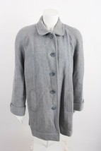 London Fog Women's Coat Size 14 Petite 14P Gray Button Down Career Wool ... - $39.59