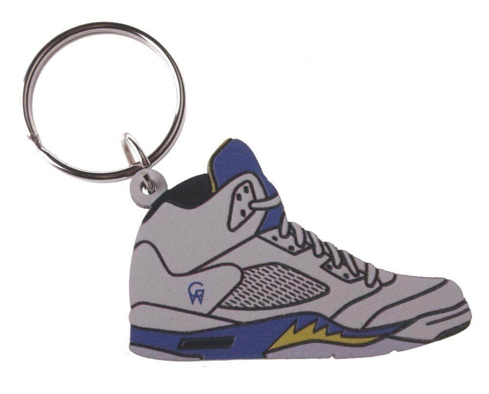 Good Wood Nyc Laney 5 Weiß Sneaker Schlüsselanhänger V Schuhe Schlüsselring