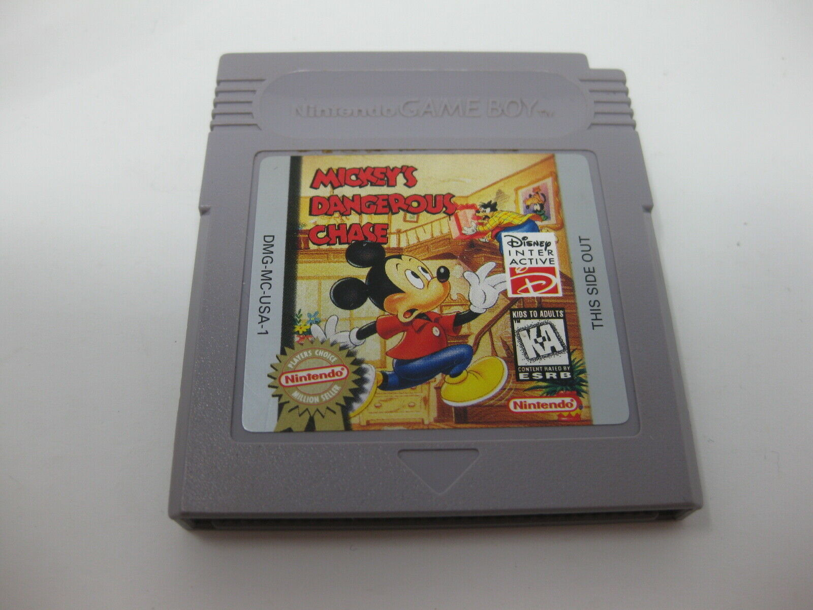 Mickey's Dangerous Chase Nintendo Game Boy Cart Tested