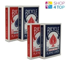 4 DECKS BICYCLE 808 RETRO 2 RED 2 BLUE PLAYING CARDS MAGIC NEW - $18.70