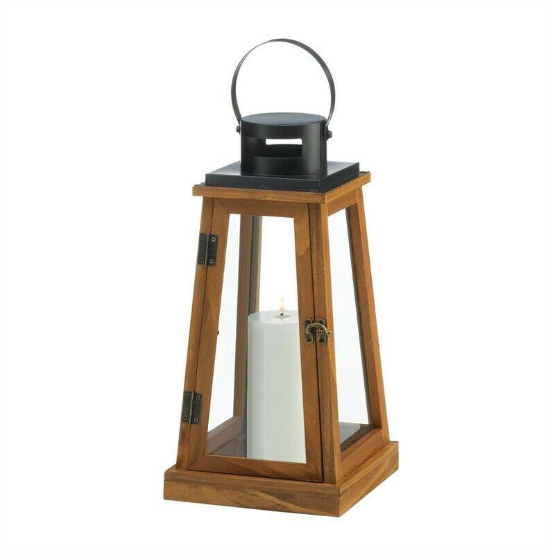 Wooden Pyramid Shaped Candle Lantern