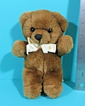 "Commonwealth Brown Teddy Bear Lush Plush Small 8"" Stuffed Animal Vintage... - $29.95"