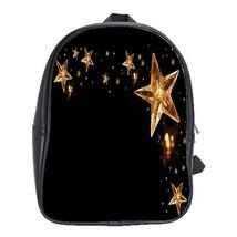 Backpack School Bag Star In Black Night Golden Beautiful Nature Design Animation - $33.00