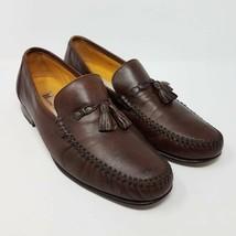 Massimo Emporio Mens Loafers Shoes Brown Slip-On Moc Toe Tassel 10 M EUR... - $45.99