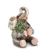 Bejeweled Crystal Enameled Elephant with Christmas Tree Trinket Box - $71.99