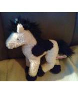 """Douglas Cuddle Toys Black & White PINTO Horse Bean Bag Plush 9"""" - $7.96"""