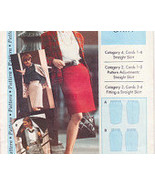Pattern Sizes 4 to 22 Step by Step Straight Skirt  Misses' - $16.00