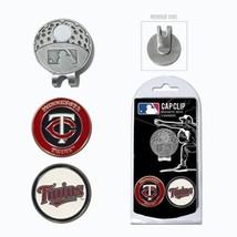 MLB Minnesota Twins Golf Cap Clip and 2 Ball Markers Enamel Team Logo Hat - $12.88