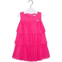 Mayoral Little Girls 2T-9 Fuchsia-Pink Pleated Triple Tier Social Dress
