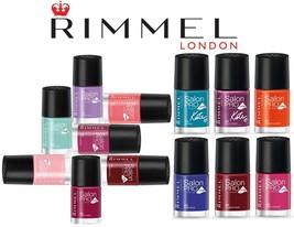 RIMMEL Nail Polish SALON PRO w/LYCRA Color/Enamel LONG LASTING New! *YOU... - €5,70 EUR