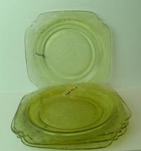 "Madrid Luncheon Plates Golden Glow Lot of 5 9"" Depression Era - $29.21"