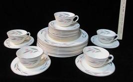 Knowles Carlton 27 Piece Set Dinner Plates Bread Butter / Dessert Cup & Saucers - $98.95