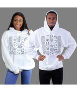 Mud Cloth Sweatshirt, Hoodie - Cotton, Long Sleeves, Black, White - Unisex - $100.00