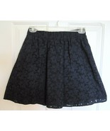 WOMENS SIZE XS THE WEBSTER MIAMI BY TARGET NAVY BLUE EYELET ABOVE KNEE S... - $7.92