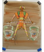 FREDDY WITTOP Man Carrying Fish Baskets COSTUME Design - $326.69