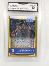 2016 Score 41/50 Jordan Payton Gold Zone Auto Rookie  GMA Graded Gem 10 - $29.65