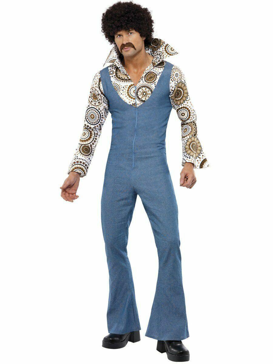Smiffys Disco 60s 70s Danseur Combinaison Adulte Hommes Halloween Costume 33216 - $56.91
