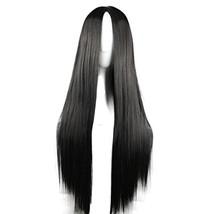 75cm Long Straight Hair Black No Bangs Heat Resistant Cosplay/Party Full... - $19.99