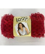 DMC Loop Enchantment Lacy Ribbon Yarn for Crochet Red Sparkle 321 - $12.86