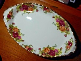 """8"""" Handled Nut Candy Dish  - Vintage Royal Albert Country Roses Collection - $19.80"""