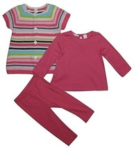 First Impressions Baby Girls' 3-Piece Stripe Sweater, Top & Leggings Set... - $33.37