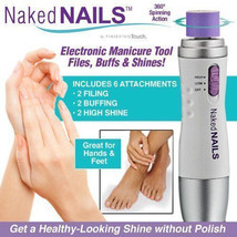 Naked Nails Electronic Manicure Tool by Finishing Touch Nail Care Perfect Pedi - $8.55