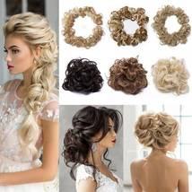 100% Real LARGE Thick Messy Bun Hairpiece NaturalHair Extension Curly image 6