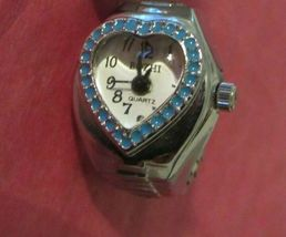 WATCH RING WITH HEART SHAPED FACE - $10.00