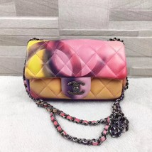 AUTHNTIC CHANEL LIMITED EDITION LAMBSKIN QUIILTED MINI FLOWER POWER FLAP... - $3,299.00
