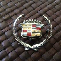 OEM Cadillac 1977-78 Eldorado Chrome Dash Wreath 1603014 & Crest Emblem ... - $27.93