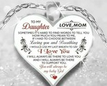 To My Daughter love heart necklace - $13.36