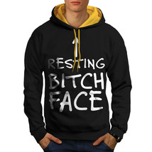 Resting Face Sweatshirt Hoody Funny Quote Men Contrast Hoodie - $23.99+