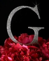 Unik Occasions Collection Crystal Rhinestone Wedding Cake Topper, Large, Letter  - $19.55