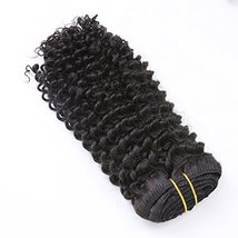 Loxxy Afro Kinky Curly Clip in Human Hair Extensions 3B 3C Kinky Clip ins For Bl image 6