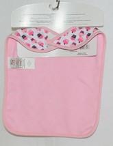 Baby Ganz BG3191 OohLaLa Bib Pink Cupcake Designs 0 Plus 100 Percent Cotton image 2