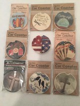 """Stone Absorbent Car Coasters CounterArt Highland Home - 2 1/2"""" Singles M... - $5.95"""