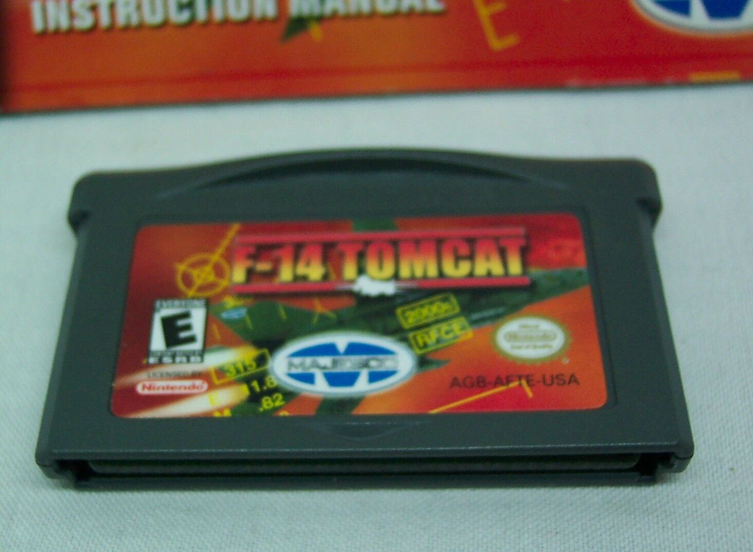 F-14 TOMCAT NINTENDO GAME BOY ADVANCE GAME 2001 with MANUAL