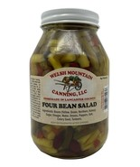 FOUR BEAN SALAD - 4 Beans Onions Peppers Mix in Sweet Brine Amish Homema... - $6.90+