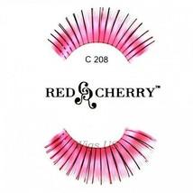 C208 Red Cherry Lashes Color Lashes Fake False Eyelashes US Seller - $3.75