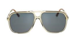 NEW Gucci Men's Sunglasses GG0200S 004 Brown Gold Blue Lens Pilot 57mm A... - $202.73
